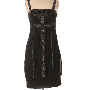 Black Beaded Sue Wong Size 6 Cocktail Dress